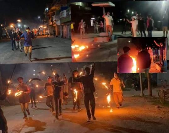 वाइसिएलद्वारा झापाको गौरादहमा राँके जुलुस प्रदर्शन