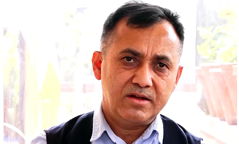 नेपाली कांग्रेसका प्रवक्ता विश्वप्रकाश शर्माद्वारा महामन्त्रीमा उम्मेदवारी घोषणा