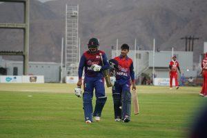 आईसीसी विश्वकप लिग २ क्रिकेट अन्तर्गत गएराति भएको खेलमा ओमनले नेपाललाई ५ विकेटले हरायो